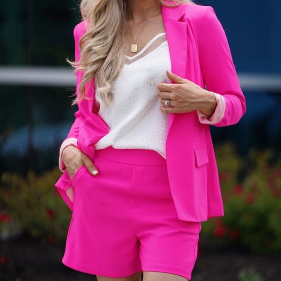 Hot Pink Silk Jacket Small